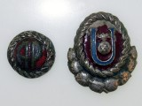 Croatia, Ustasha Officer Cap Badges