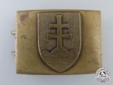 A Second War Slovakian Army Belt Buckle by Mincovna KRL Ynica