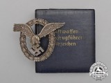 A Fine Early Quality Manufacture Luftwaffe Pilot's Badge by O.M. in its Case of Issue
