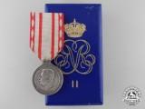 A Principality of Monaco Medal of Labour; Silver Grade