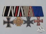 A First War German Parade Mounted Prussian War Aid Merit Medal Bar Grouping