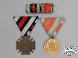 A First War German/Bulgarian Medal Grouping with its Matching Medal Ribbon Bar