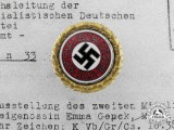 An NSDAP Golden Party Badge; Small Version to Emma Genck
