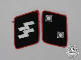 A Matching Set of Waffen-SS Oberscharführer Collar Tabs