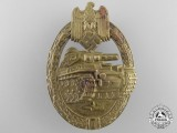 A Bronze Grade Tank Badge by B.H. Mayer