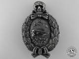 A Very Rare First War German Tank Crew Badge by Meybauer
