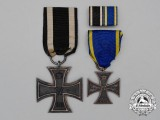 An Iron Cross 1914 Second Class & Brunswick War Merit Cross Second Class Pair
