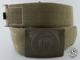 A Fine Second War Tropical Afrika Korps Belt with Buckle by Richard Sieper & Söhne
