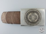 A 1933 Pattern German Red Cross Enlisted Man's Belt Buckle; Published