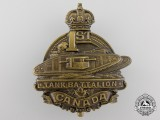 A First War 1st Canadian Tank Battalion Cap Badge