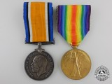 A First War Canadian Medal Pair to the 180th Sportsmen Battalion