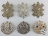 Six First & Second War British Highlander Cap Badges