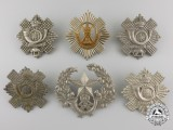Six First & Second War British Cap Badges