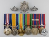 A First War Canadian Military Medal Group to Sergeant John Brunette
