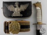 An Italian Army Officer's Dagger, Belt and Bandolier, c. 1930s-1940