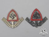 A Grouping of Two RAD (National Labour Service) Cap Badges