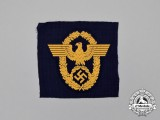 A Mint and Unissued Third Reich Period Wasserschutzpolizei Civil Police Sleeve Eagle