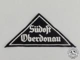 "A Mint and Unissued HJ/BDM ""Südost Oberdonau"" District Sleeve Insignia; RZM Tagged"