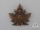 "A First War CEF 127th Infantry Battalion ""12th York Rangers"" Cap Badge"