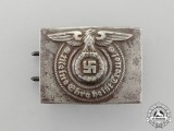 A SS EM/NCO's Standard Issue Belt Buckle by Overhoff & Cie; Ground Recovered