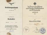 Two Awards Documents top Oberfeldwebel J. Herzog