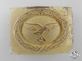 A Luftwaffe 1942 Pattern Afrika Korps EM Belt Buckle by Franke & Co.