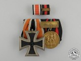 An Iron Cross 1939 Second Class & Sudetenland Medal Pair with Ribbon bar