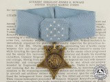A Medal of Honor & Citation Document to Gunnery Sergeant Howard for the Defense of Hill 488