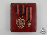An Albanian Order of Scanderbeg, Knight Badge with Miniature