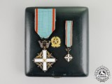 Italy. An Order of Merit of the Italian Republic, Knight, Fullsize and Miniature, in Case