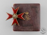 A Fine Mecklenburg Order of the Griffin; Officer's Cross by Godet & Sohn in its Case of Issue