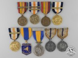 Nine New York State Decorations, Medals, & Awards