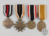 Four First and Second War German Medals/Decorations/Awards