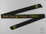 "A North German Lloyd (AKA Bremen Line) ""D. Kaiser Wilhelm II"" Tally Ribbon"