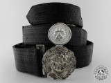 A Kriegsmarine Belt with Buckle by Friedrich Linden Co.