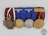 A First and Second War Wehrmacht Long Service Medal Bar