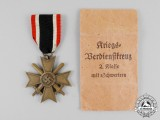 A Second War German War Merit Cross Second Class with Swords and Packet