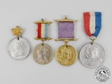 Four Royal Commemorative Medals