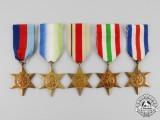 Five British Second War Stars