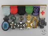 A Fine First War Period Swedish Miniature Medal Bar
