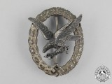 An Early Quality Luftwaffe Radio Operator & Air Gunner Badge; Thin Wreathed Version