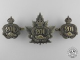A First War 201st Canaidan Infantry Battalion Badge Set