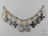 A Rare Austrian Order of St. Stephen Miniature Medal Chain