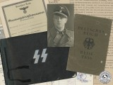 An SS Document & Photo Group to Untersturmführer Karl-Heinrich Plath; Nordland Division