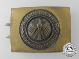 A Weimar Republic National Banner (Reichsbanner) Belt Buckle
