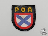 "A Second War Wehrmacht Heer (Army) Russian ""POA"" Volunteer Sleeve Shield"