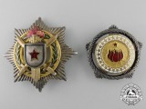 Two Yugoslavian Socialist Republic Orders & Awards