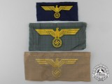 Three Kriegsmarine Cloth Eagles