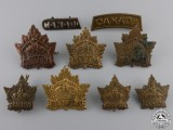 Nine First World War Canadian General Service Badges  Consignment #28