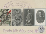 Four First War German Imperial Airmen Postcards